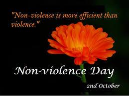 "international non violence day essay speech quotes status history  non violence day essay """