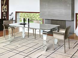 dining room table mirror top: contemporary unico encio glass dining table and chairs choice of