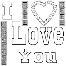 I Love You Coloring Pages For Adult Love Coloring Pages Bible