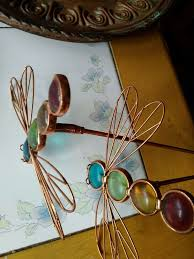 diy dragonfly pair metal wall art decor