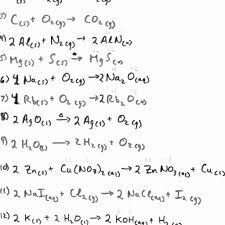 balancing equations practice worksheet answers science spot them and try to solve