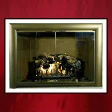 custom fireplace glass door