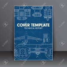 cover design blue with in technical style for a book report or of brochures flyer
