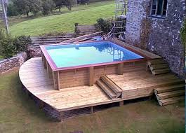 square above ground pool with deck. Above Ground Pool In Construction Square With Deck Pinterest