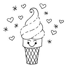 waffle cone coloring page. Unique Page Drawn Waffle Cone Beautiful Intended Coloring Page