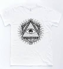футболка Illuminati Eye инди ретро тату эскиз футболка с пирамидкой винтаж Tumblr топ
