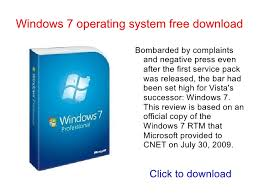 Windows 7 Version Comparison Chart
