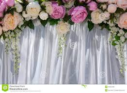 Wedding Arch Decorations Wedding Arch With Flowers Of Peonies Stock Photography Image