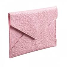 Calling Card Business Pink Leather Business Card Holder