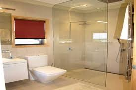 Image of: Contempory Doorless Shower Plans