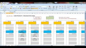 Youtube Organizational Chart Excel Organization Chart Template Demonstration Youtube