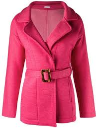 hot pink coats lygia nanny belted trench coat