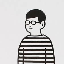 Noritake Note Border Boy ゆるいボーダーめがね男子の絵が好きです