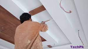 paint on false ceiling for design