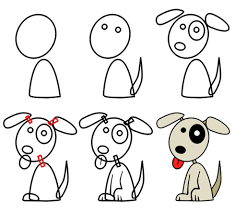 Small Picture How to draw cartoon puppies