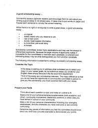 writing good essay scholarship writing a scholarship essay otc student affairs