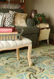 green and brown area rugs inspirational teal blue area rugs 50 photos home improvement love the rug in this living room they give sources for tons of great