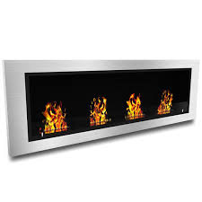 com elite flame luxe recessed ventless bio ethanol wall mounted fireplace home kitchen
