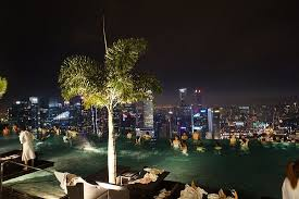 Infinity Pool night view Picture of Marina Bay Sands Singapore