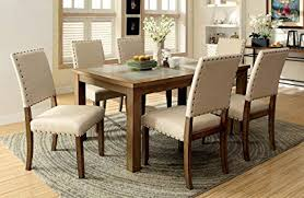 furniture of america lucena 7 piece transitional dining set on transitional dining room chairs