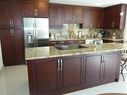Dark Brown Kitchen Cabinets Fabulous Dark Brown Wooden Color Contemporary Kitchen Cabinets