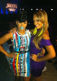 keyshia dior evelyn lozada at the kaoir cosmetics lipstick launch party