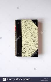 calf hide leather bound cover of poems of rural life book showing gold leaf pattern isolated