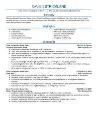 Loss Prevention Supervisor Resume Sample