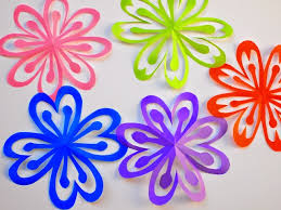 Make Flower With Paper How To Make Colorful Kirigami Flowers Pink Stripey Socks