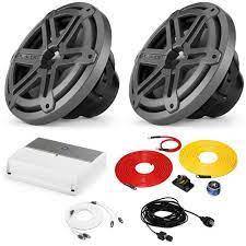 JL Audio Marine Bass Package - M600/1 Amplifier, 2 MX10IB3-SG-TB 10