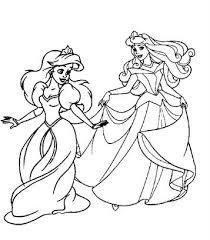 The articles include black and white diagrams of beautiful princesses in their long gowns and shiny tiaras. Kids N Fun Com 33 Coloring Pages Of Disney Princesses