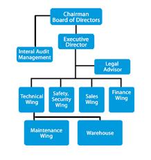 Organisational Chart Blue Sky