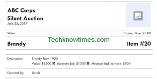 Silent Auction Bid Sheet Template Microsoft Word