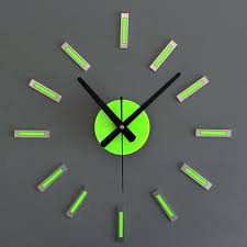 green wall clock art geometric luxury wall clock for living room home office silence movement geometric green wall clock  on wall clock art design with green wall clock green and blue clocks large lime green wall clock