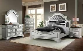 Leighton Manor Antique White King Bedroom Set | The Furniture Mart
