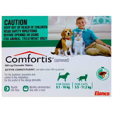 comfortis flea treatment for dogs u0026 cats 9118kg 6pk comfortis dogs a97
