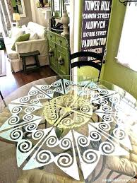 stenciled table tops painted top designs paint patterns glass tables best stencil ideas on kitchen o stenciled table tops