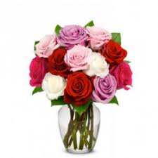 12 orted sweetheart roses