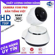 Camera giám sát ngày đêm V380 chuẩn HD 720p bảo hành 12 tháng TẶNG 64GB  YOOSEE xịn