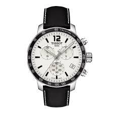 quickster chronograph men s white dial black leather strap watch tissot quickster chronograph men s white dial black leather strap watch