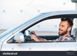 car driving side view. Perfect View Riding His New Car Side View Of Handsome Young Man Driving Car And  Smiling And Car Driving View 0