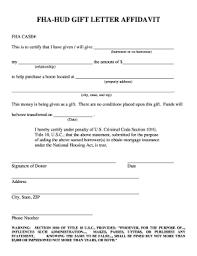 Gift Letter Fha Fill Online Printable Fillable Blank Pdffiller
