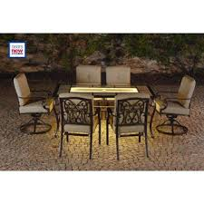 La Z Boy Outdoor Halley 7pc Dining Set with Lighted Table Limited