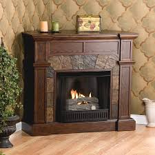 Corner Gas Fireplace Ventless Corner Gas Fireplace With Walnut ...