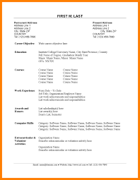 Simple Resume Sample 100 simple resume sample for fresh graduate legacy builder coaching 29