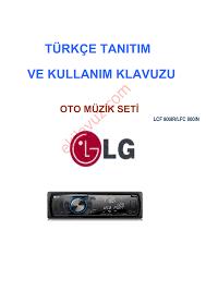 Lg LCF 800IR Oto Müzik Seti - Kullanma Kılavuzu - Sayfa:1 - ekilavuz.com