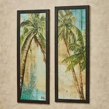 beach palm framed wall art multi cool 2 piece set on palm tree wall art set with beach palm tree framed wall art set