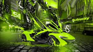 mclaren p1 fantasy transformer car