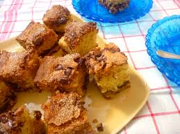 Pour batter into prepared pan. Chocolate Chip And Sour Cream Coffee Cake The Back Yard Lemon Tree