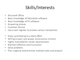 Skills And Interests On Resume